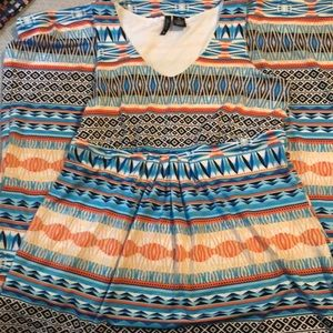Patterned New Directions Maxi Dress